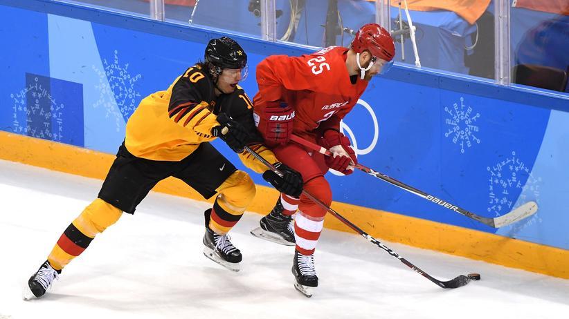 Eishockey Deutschland Russland Olympische Spiele Pyeongchang