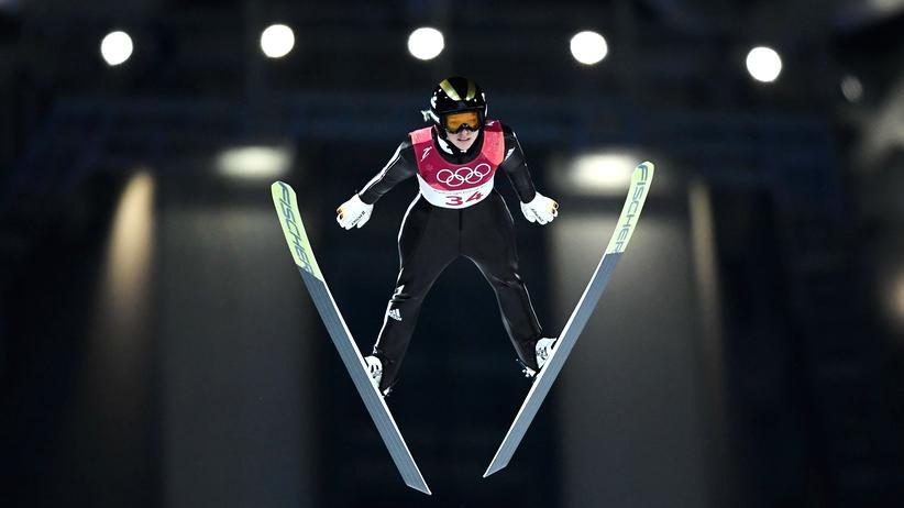 Olympia 2018: Katharina Althaus ist beim olympischen Skispringen Zweite geworden.