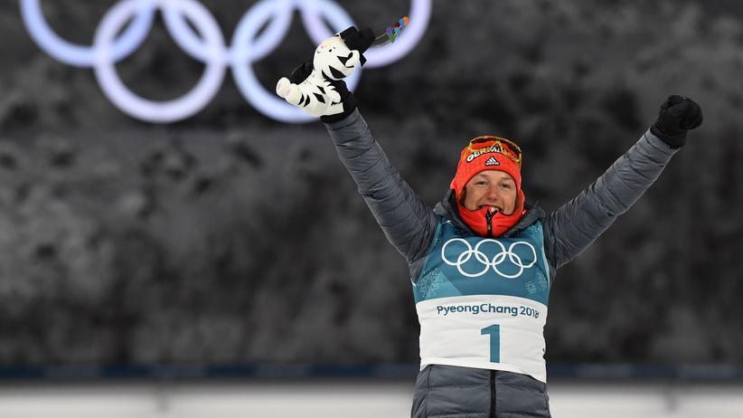 Olympia heute: Laura Dahlmeier kann mit eintägiger Verspätung das Biathlon-Gold-Triple in Pyeongchang perfekt machen.