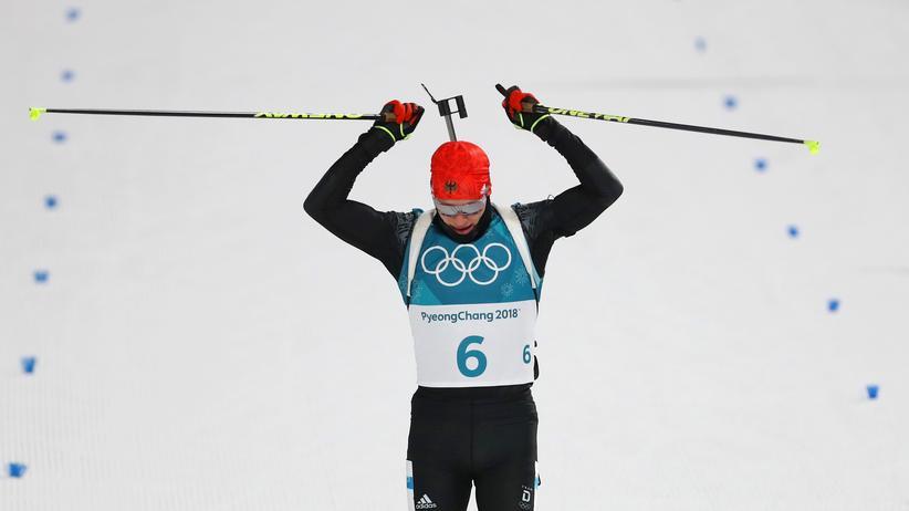 Olympische Winterspiele 2018: Der deutsche Biathlet Benedikt Doll in Pyeongchang