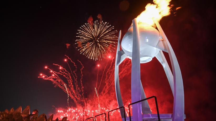 Eröffnungsfeier der Olympischen Winterspiele: Das olympische Feuer brennt seit Freitag in Pyeongchang.