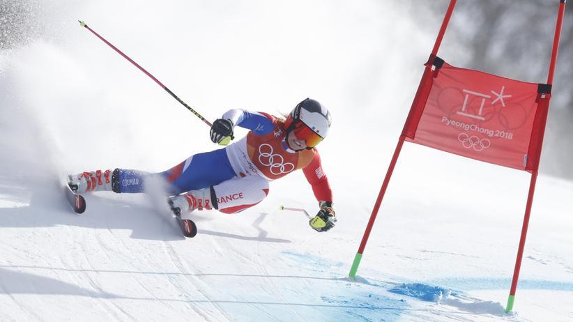 Olympische Winterspiele: Riesenslalom, Riesenleistung. Hier: die Deutsche Viktoria Rebensburg in Pyeongchang