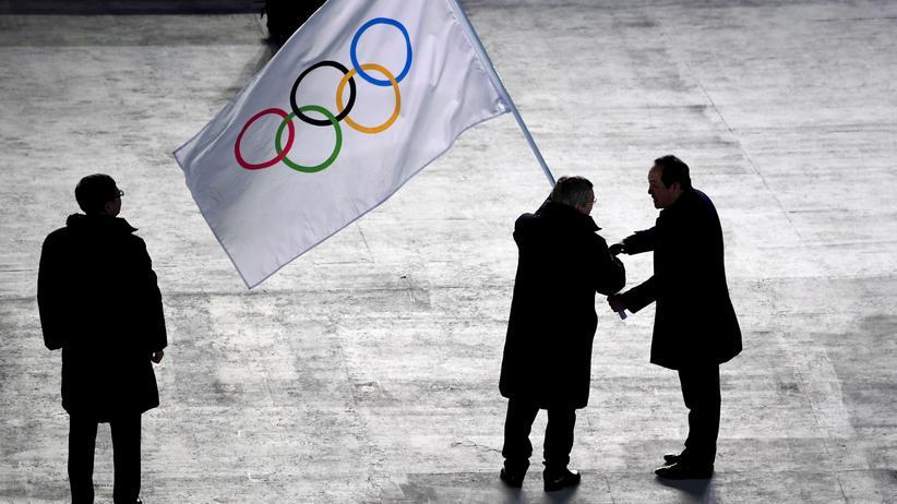 Olympia 2018: Der IOC-Präsident Thomas Bach auf der Schlussfeier in Pyeongchang
