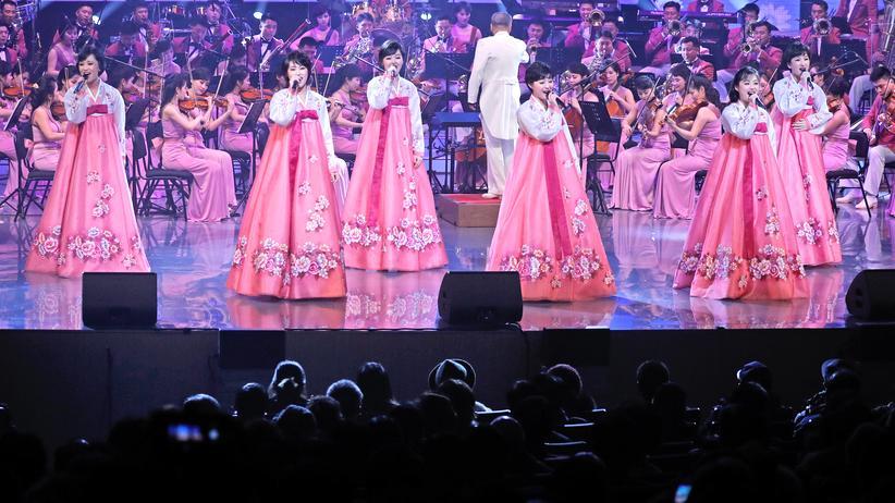 Olympische Spiele: Das Samjiyon-Orchester Nordkoreas am 8. Februar in Gangneung (Südkorea)