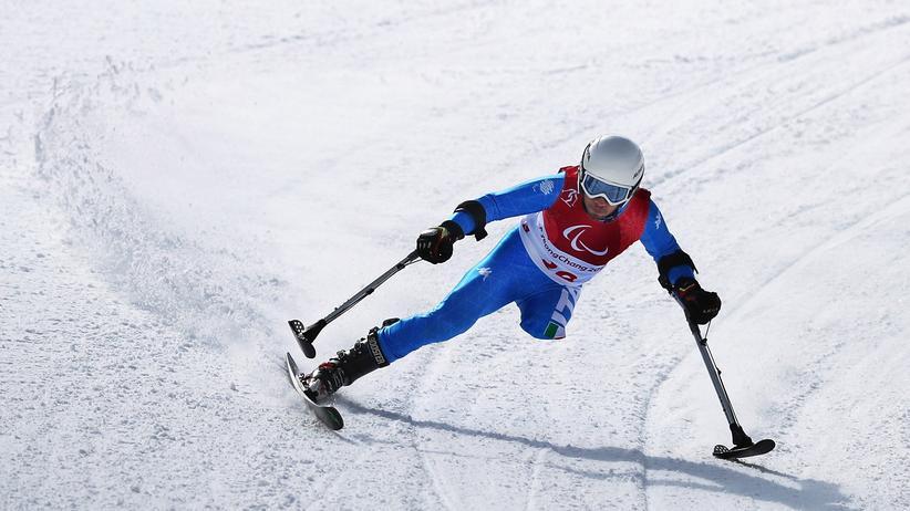 Paralympics 2018: Können manche nicht mit zwei Beinen: Italiens Abfahrer Davide Bendotti