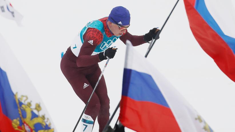 Doping in Russland: Der russische Sportler Alexander Bolshunov bei den vergangenen Olympischen Winterspielen in Pyeongchang