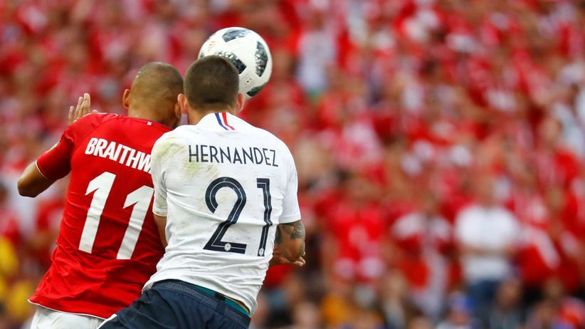 Fußball-WM: Dänemark und Frankreich im Achtelfinale