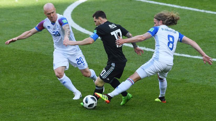 Fußball-WM: Island holt Remis gegen Argentinien