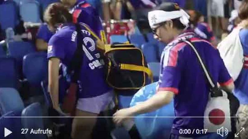 Fußball-WM: Japan ist Weltmeister im Saubermachen