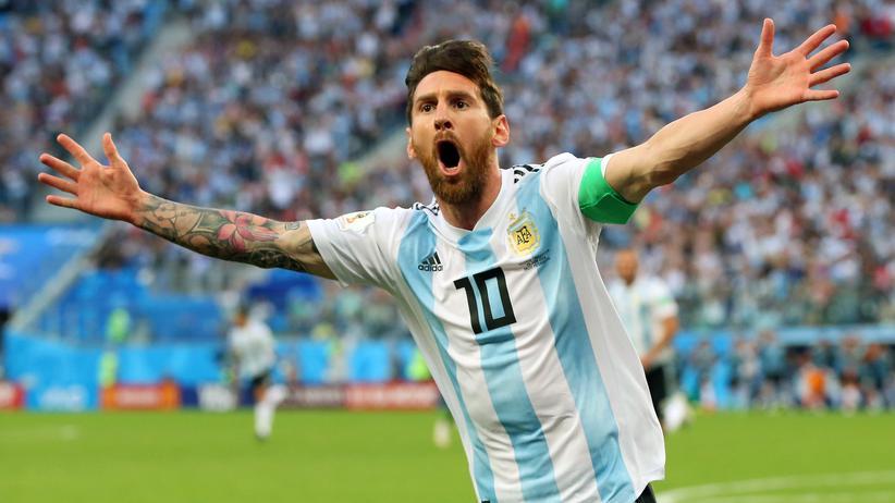 Nigeria – Argentinien: Gooool: Lionel Messi nach seinem Tor