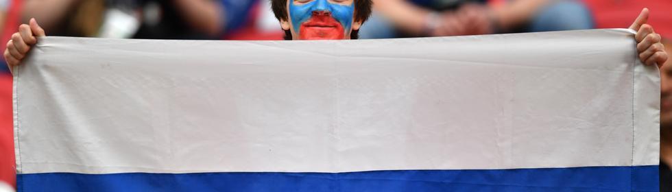 Ein russischer Fan während des Confed Cups im vergangenen Jahr