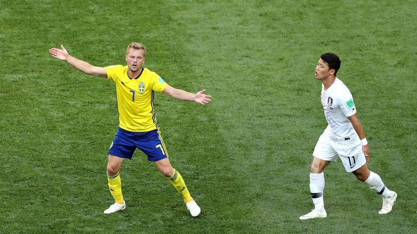 Schweden: Schwedens Sebastian Larsson zeigte sein Können beim 1:0 gegen Südkorea. Auch gegen Deutschland rechnet sich die Mannschaft Chancen aus.