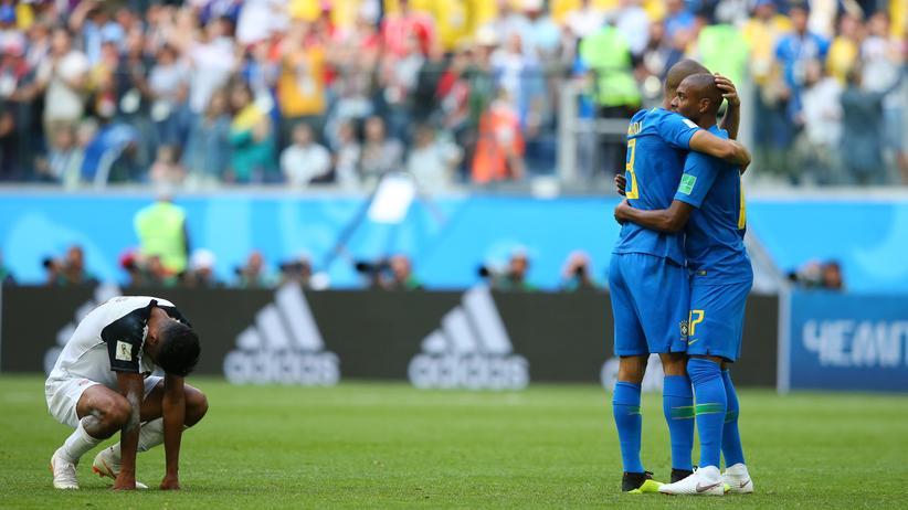 Fußball-WM: Brasilien schlägt Costa Rica in letzter Sekunde