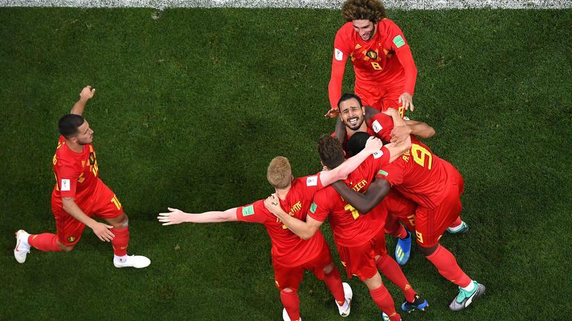 Belgien: Viel zu feiern in diesen Tagen: Eden Hazard (links), Kevin De Bruyne (daneben) und Romelu Lukaku (ganz rechts)
