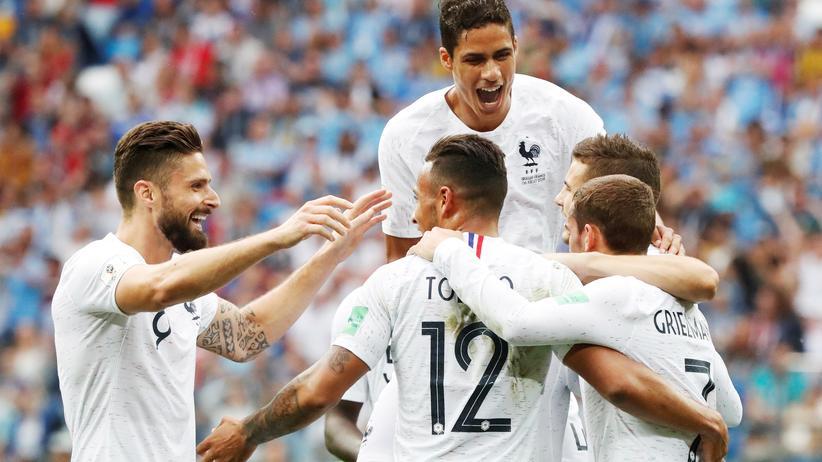 Frankreich – Uruguay: Frankreich zieht ins Halbfinale ein