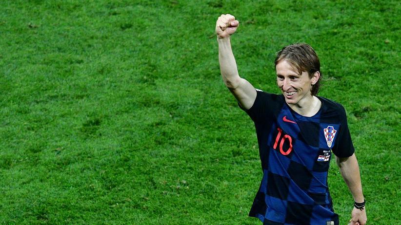 Halbfinale Kroatien-England: Kann was: Kroatiens Luka Modrić.