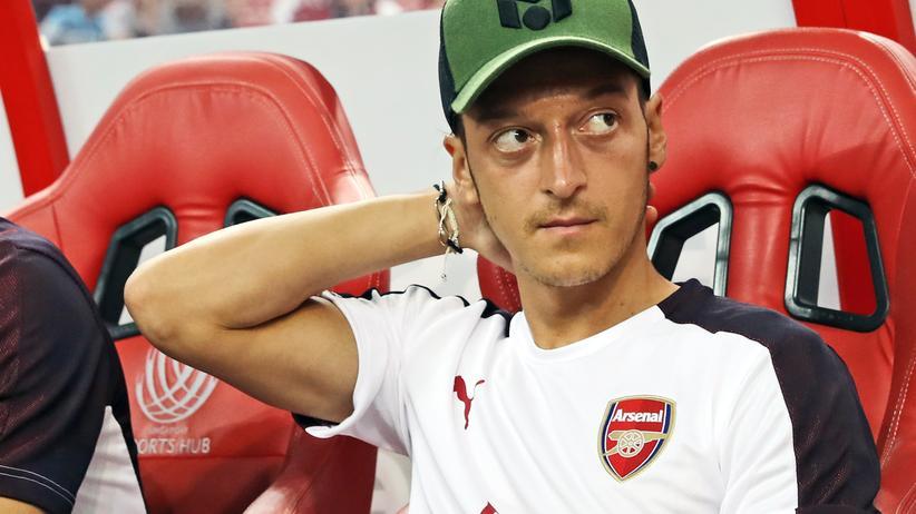 Rücktritt aus der Nationalmannschaft: Mesut Ozil während eines Spiels seiner Mannschaft Arsenal in Singapur