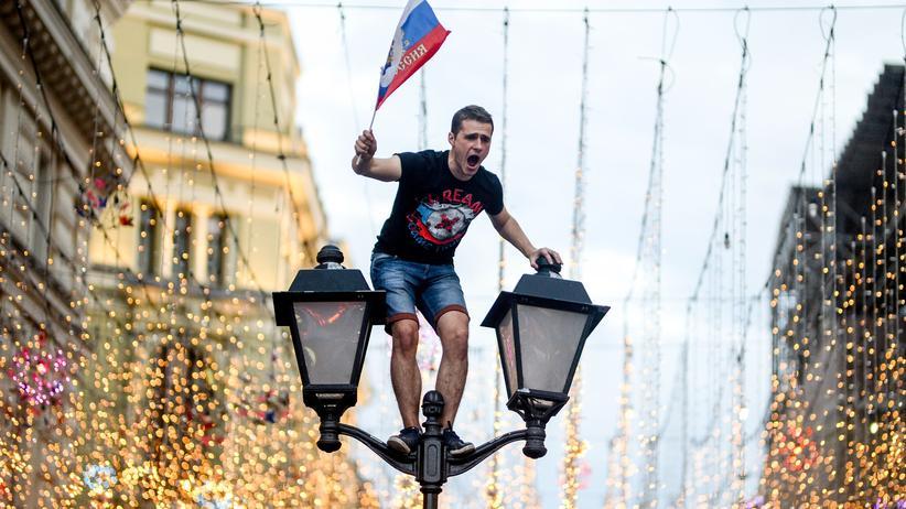 Russische Feiereien auf der Nikolskaya