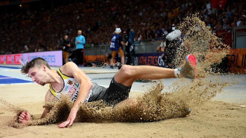 Leichtathletik-EM: Weitspringer Fabian Heinle in Aktion