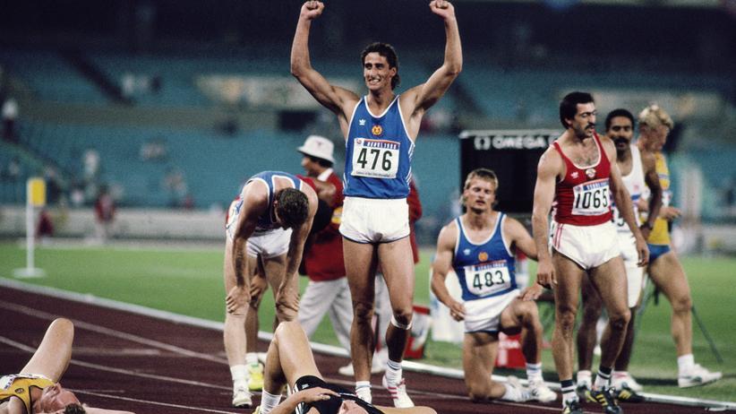 Christian Schenk: Christian Schenk nach dem 1.500-Meter-Lauf in Seoul 1988