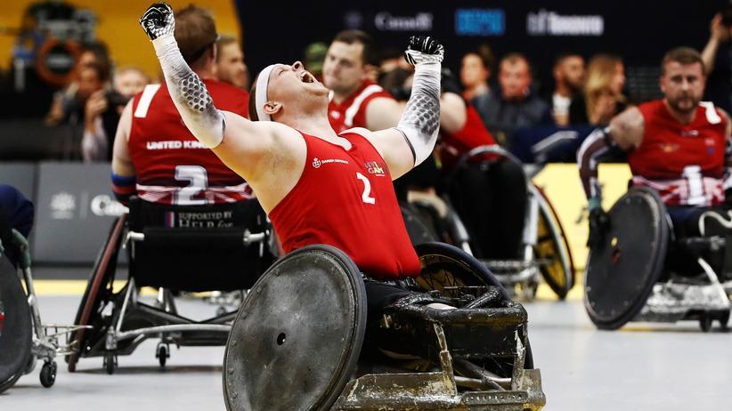 Rollstuhlrugby während der Invictus Games 2017 in Toronto