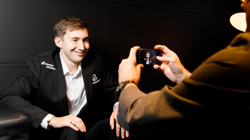 Schach-WM: Sergej Karjakin im Gespräch mit unserem Reporter
