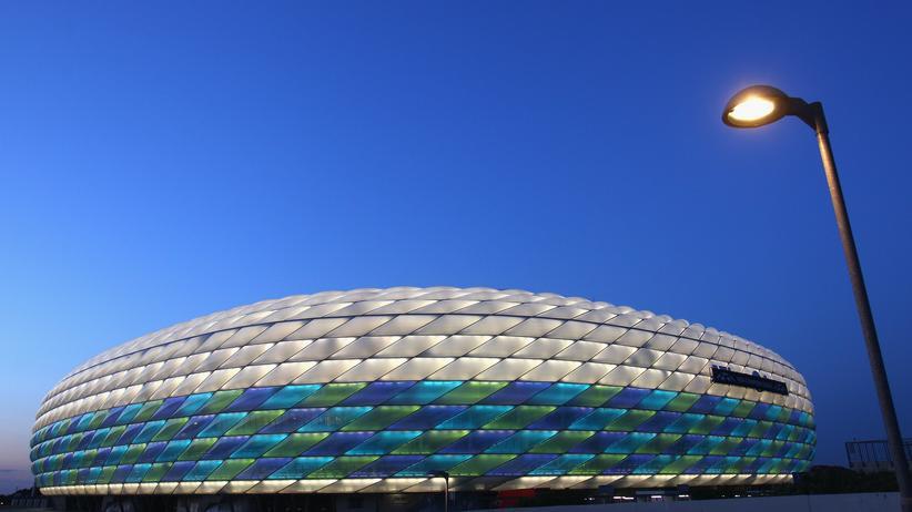 Fußball: Die Allianz-Arena, in der der FC Bayern München spielt