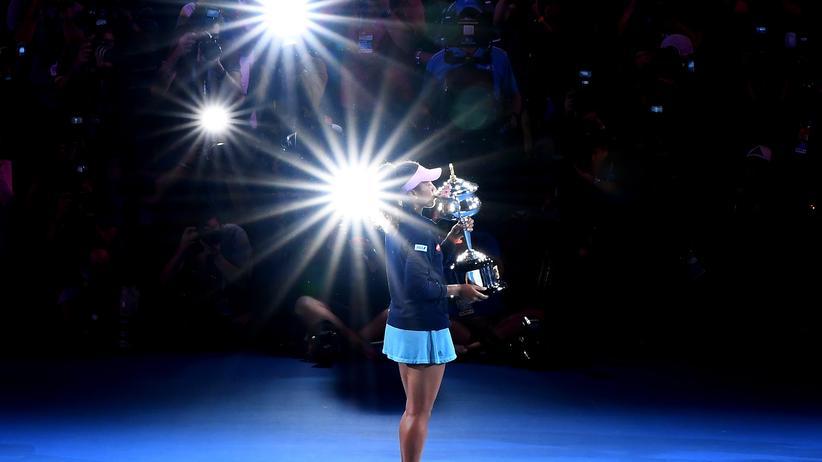 Australian Open: Naomi Osaka nach ihrem Gewinn bei den Australian Open