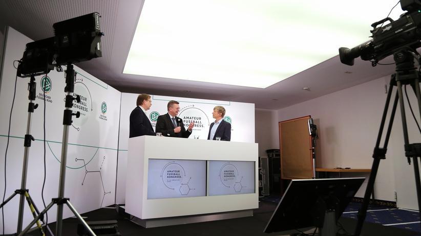 Rainer Koch und DFB-Präsident Reinhard Grindel, die DFB-Führung, in Kassel.