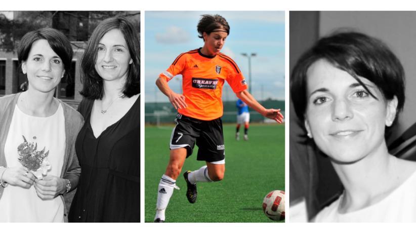 Fußballerin: Mit diesen Bildern verabschiedet sich der Verein Glasgow City von Katharina Lindner.