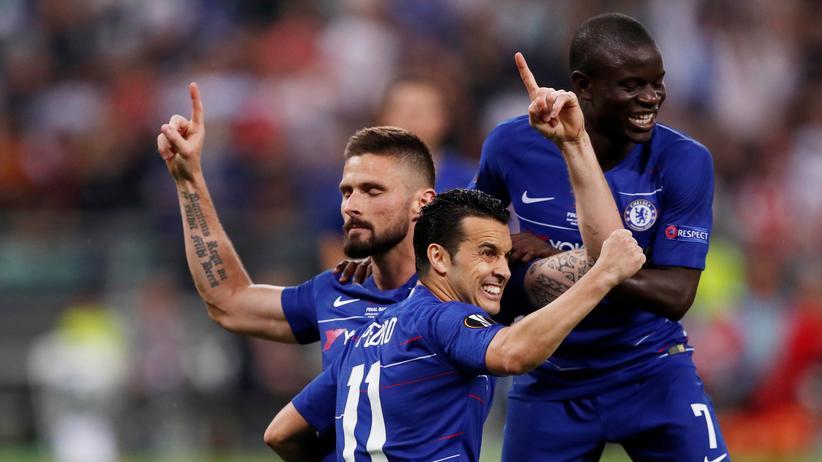 Europa League: Chelseas Olivier Giroud feiert das 1:0.