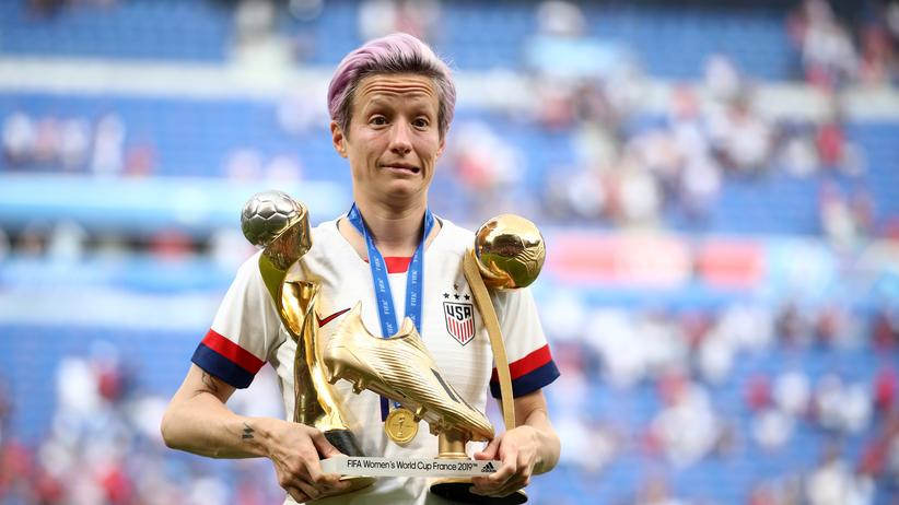 Fußball-WM-Finale: Megan Rapinoe, wieder Weltmeisterin, beste Spielerin und beste Torschützin des Turniers.