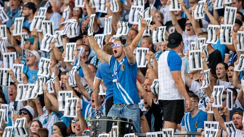 Fans des Chemnitzer FC solidarisieren sich mit Daniel Frahn