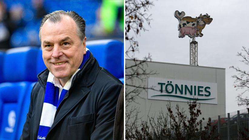 Clemens Tönnies: Aufsichtsratsvorsitzender von Schalke 04, verdient mit einem der größten Schlachtbetriebe Deutschlands sein Geld.