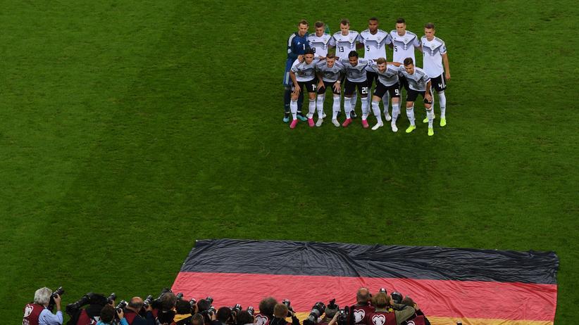 Das deutsche Team vor dem Spiel gegen die Niederlande