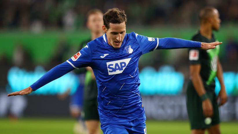 Bundesliga, 5. Spieltag: Sebastian Rudy feiert das 1:0 gegen Wolfsburg in seinem 200. Bundesligaspiel für Hoffenheim.