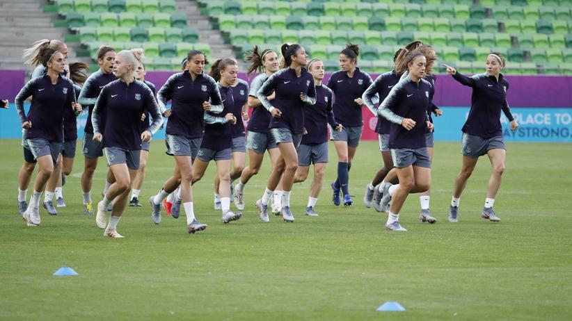 Frauenfußball: Spielerinnen des FC Barcelona beim Training