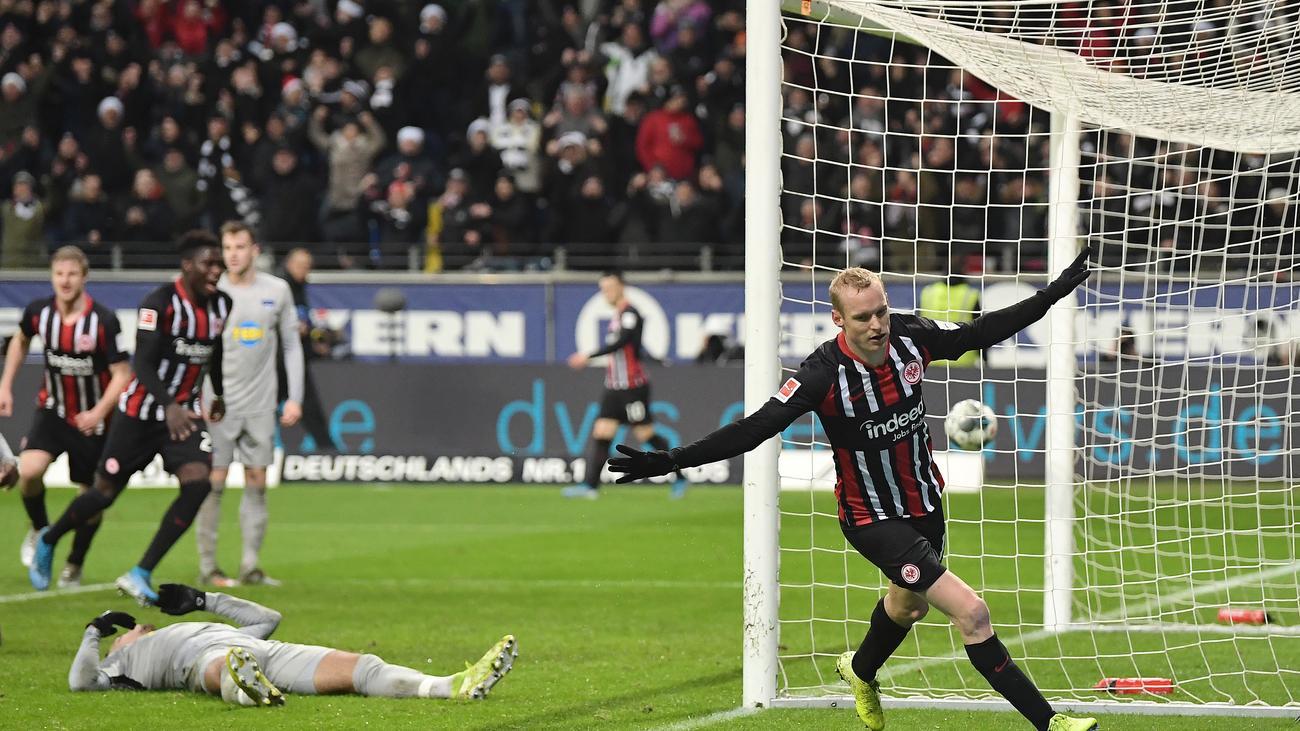 Bundesliga, 14. Spieltag: Hertha und Eintracht trennen sich unentschieden