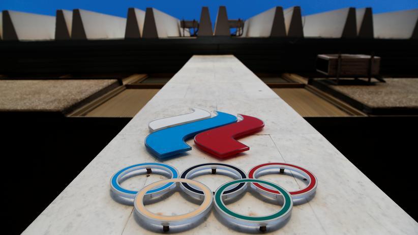 Doping: Das Logo des Russischen Olympischen Komitees, Moskau 2019