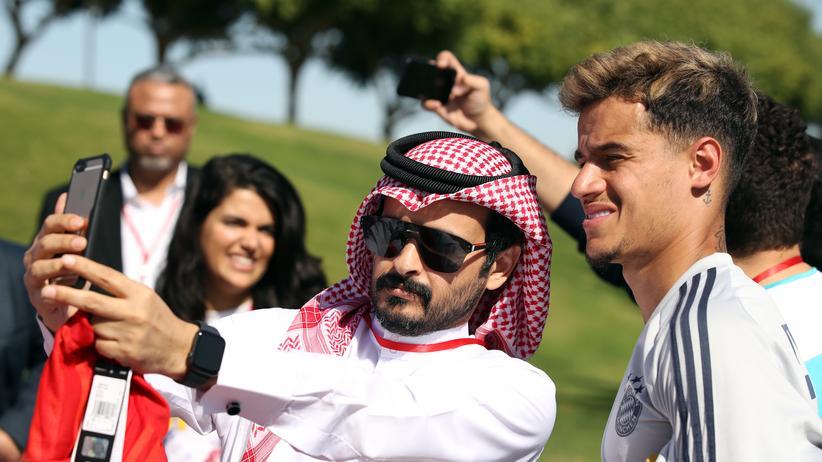 Trainingslager in Doha: Philippe Coutinho ist zum ersten Mal mit den Bayern in Katar.