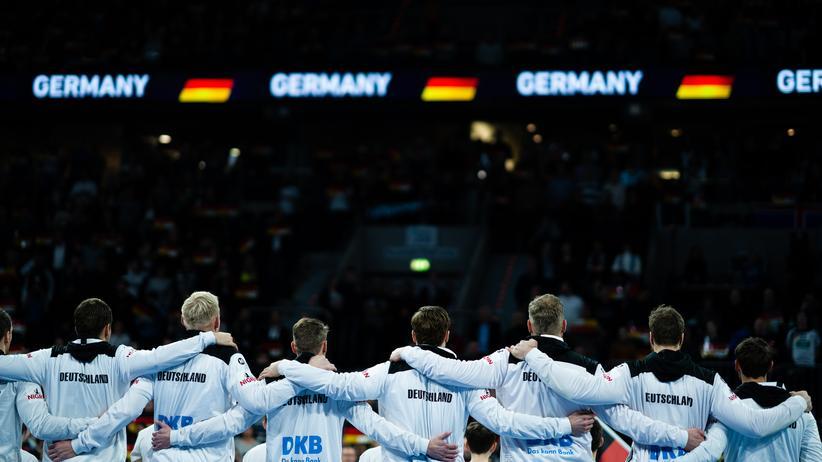 Das deutsche Team kurz vor der EM.