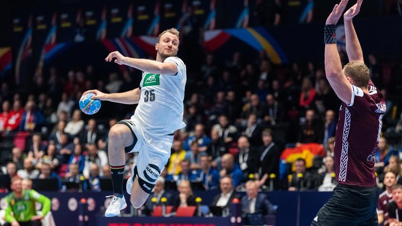 Handball-EM: Julius Kühn war der beste deutsche Werfer: Er traf achtmal.