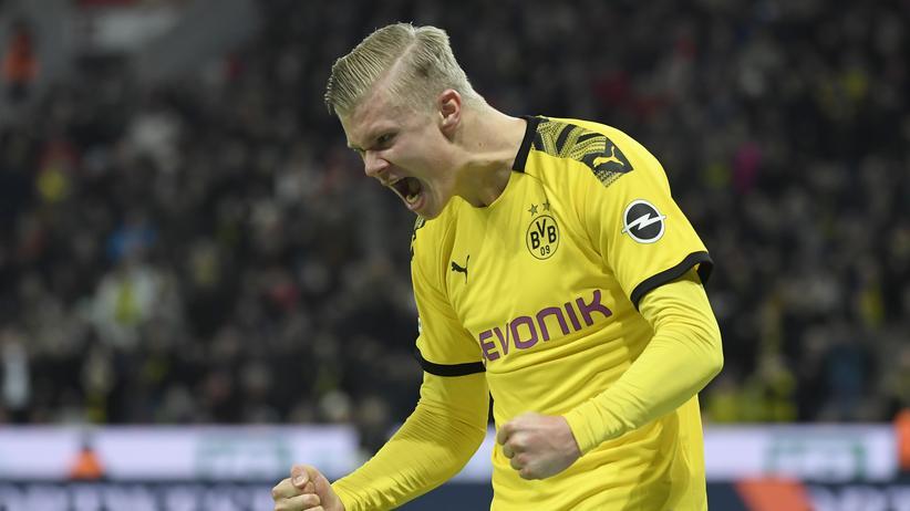 22. Spieltag: Erling Haaland nach seinem Treffer zum 3:0 im Spiel gegen Eintracht Frankfurt.