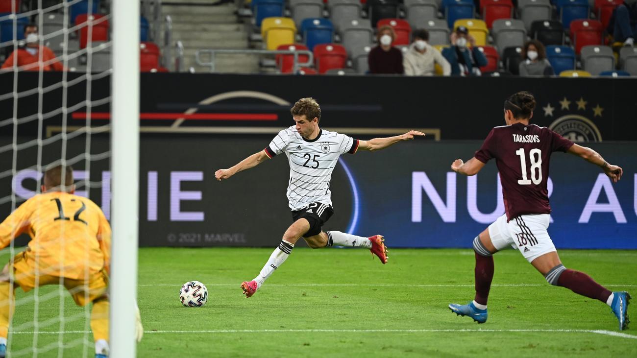Fußball-EM: Deutschland schlägt Lettland 7:1