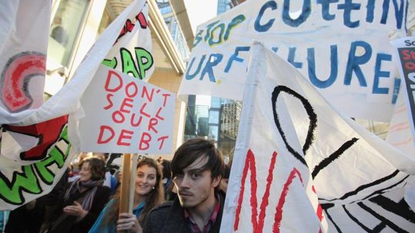 Im November 2011 protestierten Studenten in London gegen die Erhöhung der Studiengebühren