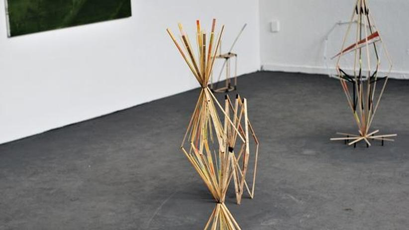 Kunststudenten: Eine Arbeit aus der Klasse von Robert Lucander an der UDK Berlin während des Rundgangs 2012