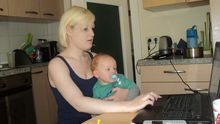 Anna und ihr Sohn Jasper