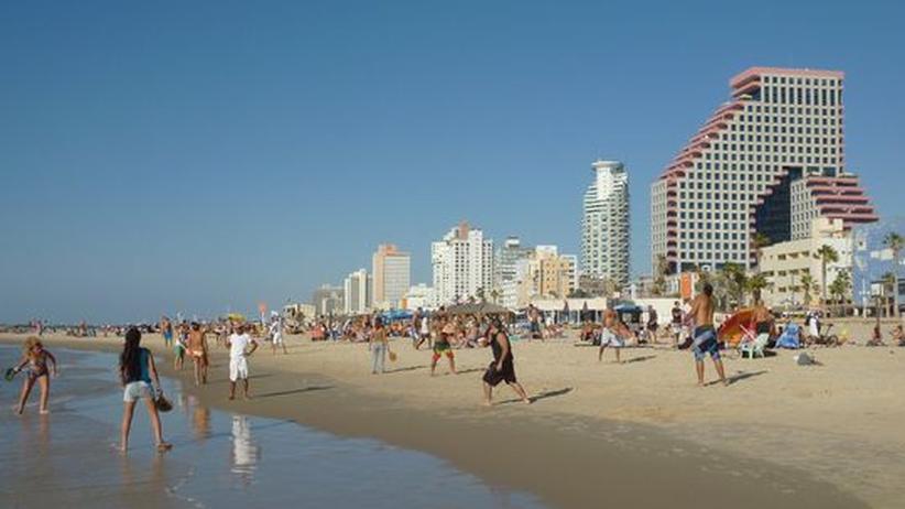 Studieren in Israel: Der Strand von Tel Aviv