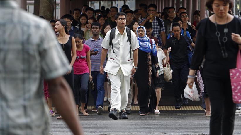 Singapur: Singapurs Bevölkerung droht zu schrumpfen.