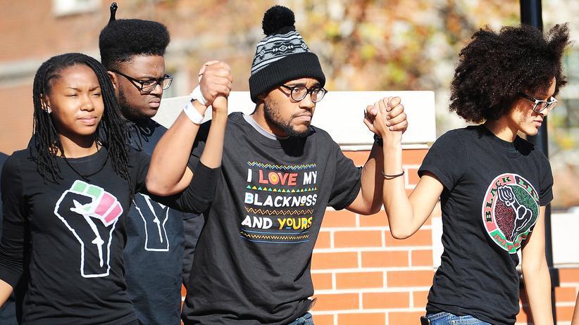 Studentenproteste: Studenten in Missouri protestieren gegen Rassismus.